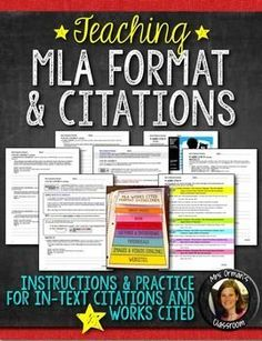 Worksheet Mla Citation Practice Worksheet worksheets on pinterest mla citations teaching instructions practice exercises and examples