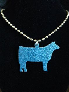 Glitter Finish Show Cattle Necklace **MORE COLORS**