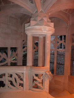 Staircase in Castello di Haut-Kœnigsbourg in Orschwiller ~ Alsace, France