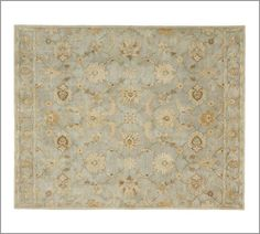 Gabrielle Persian-Style Rug - Blue | Pottery Barn