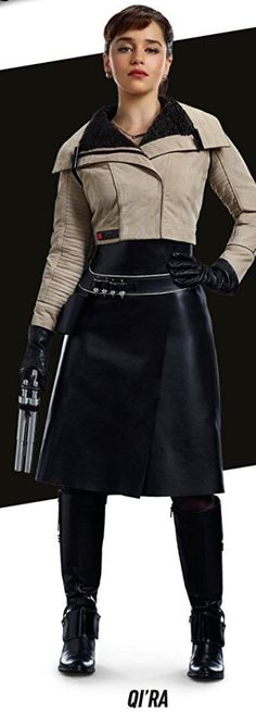 A higher quality view of Qi'ra's outfit from the Solo book collection cover x