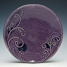 Kristen Kieffer Violet indigo medium sandwich plate  SHE IS MY FAVORITE I want a Kieffer cup so badly.