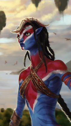 Clanleader of the Ikran clan of the Eastern Sea by sickdelusion on DeviantArt Stephen Lang, Michelle Rodriguez, Avatar Movie, Alien Avatar, Native American Games, Character Drawing, Character Design, Avatar James Cameron, Man In Black