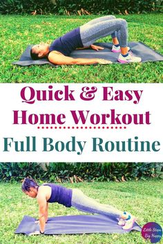 Check out this full body strength training workout that is perfect for beginners. This fat burning exercise routine will tighten and tone your arms, legs, and abs. This FREE printable workout requires no equipment and can be done at home. Get fit by adding this easy and simple workout to your daily routine for women. Strength Training For Beginners, Gym Workout For Beginners, Abs Workout For Women, Strength Training Workouts, Ab Floor Workout, Full Body Workout At Home, Easy At Home Workouts, Gym Workouts, Printable Workouts