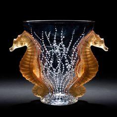 "winterhill-aria: "" Lalique Poseidon Vase, ca 1920 """