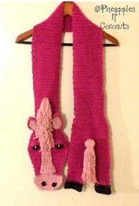 Crochet Horse Scarf Pattern