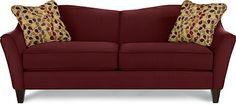 Demi Sofa by La-Z-Boy...with 2 chairs to match in the fabric used on these pillows.