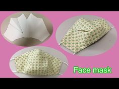 DIY#วิธีทำหน้ากากอนามัยแบบมีจีบ#Face Mask #マスクの作り方。download 👇 - YouTube Sewing Hacks, Sewing Tutorials, Sewing Crafts, Sewing Projects, Sewing Patterns, Diy Mask, Diy Face Mask, Pocket Pattern, Free Pattern