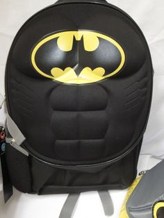 "DC Comics Batman Molded Chest 16"" Backpack + Batman Tumbler Cup NEW #FastForwardandThermos #Backpack"