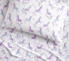 Organic Magical Unicorn Sheet Set #pbkids