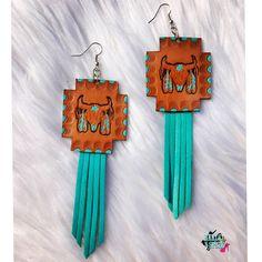 Dreamin Bull Leather Fringe Earrings
