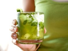 Cucumber Quencher with lime and mint