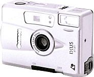 IXUS FF - March 1999 (Fully automatic fixed-focus IX 240 camera with single focal length lens, developed as a successor to the IXUS FF25, primarily for the European market. )