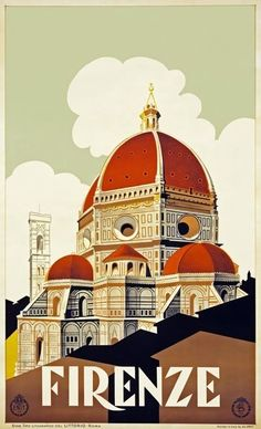 8.95AUD - Tx234 Vintage Italy Firenze Florence Italian Travel Poster Re-Print A1/A2/A3/A4 #ebay #Home & Garden