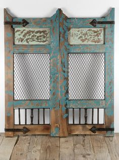 These distressed doors would make a breathtaking backdrop for an altar at an outdoor wedding!