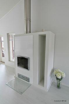 Coconut White - White Uunisepät Tunturi fireplace Room, House, Home, Building A House, New Homes, Room Inspiration, Living Room Inspiration, White, Fireplace