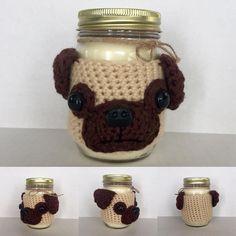 Pug Candle #hookedbyangel #pughug #pugcozy #puglovers