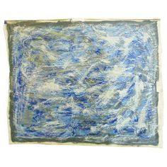 Image of Contemporary Modern Blue Streak Painting by Alaina