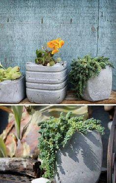 DIY: Concrete planters
