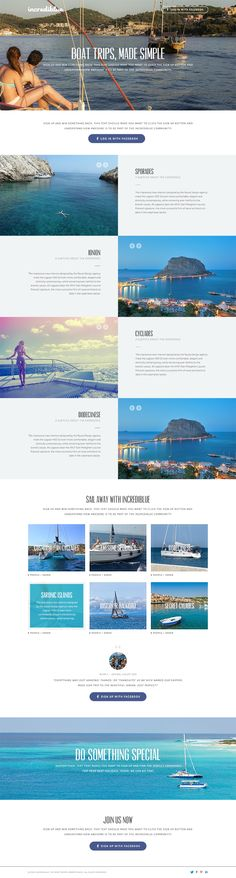 incrediblue landing page - 365psd - one page website