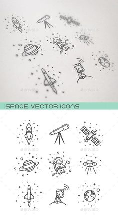 Space Icons - Objects Icons - Space Everything Mini Tattoos, Small Tattoos, Outer Space Tattoos, Circle Tattoos, Owl Tattoos, Icon Design, Web Design, Icon Tattoo, Space Doodles