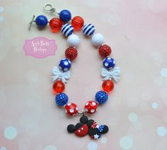 Minnie Mouse Mickey independence day 4th of by AppleBearyBowtique, $18.00