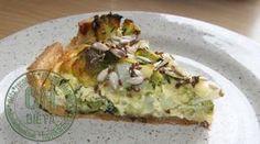 Brokkolis-hagymás lepény (CH-diéta) Quiche, Paleo, Breakfast, Recipes, Food, Reception, Morning Coffee, Eten, Beach Wrap