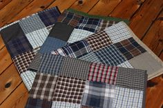 Grits & Giggles: The Memory Quilts {Part 2}...Love the idea of sewing memory quilts from old clothes!