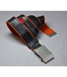Stef Fauser Design Damen & Herren Gürtel Beltinger-Orange 110 x 4cm   - 2-flowerpower