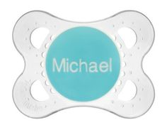 Customize up to 20 characters of text on premium MAM Pacifiers! Just ordered Tanner a couple!