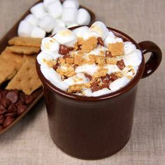 S'more mug cake. This ooey-gooey treat represents near instant gratification for chocolate lovers.