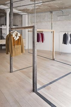 Retail Fitout Wet Dreams Are Made by Ciguë. Unconventional clothing display incorporating architecture of space Retail Interior Design, Showroom Design, Retail Store Design, Retail Shop, Showroom Ideas, Retail Displays, Shop Displays, Window Displays, Commercial Design