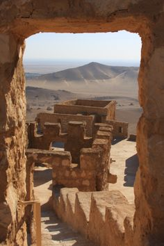 Qalat ibn Maan Citadel, which looms over the ancient ruins of Palmyra, Syria