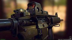 ArtStation - M4 Carbine, Orlando Jones