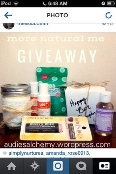 Today's the last day to enter! Visit audiesalchemy.wordpress.com to enter. #drbronners #yestocarrots #burtsbees #diy #diylaundrydetergent #simplynurtures