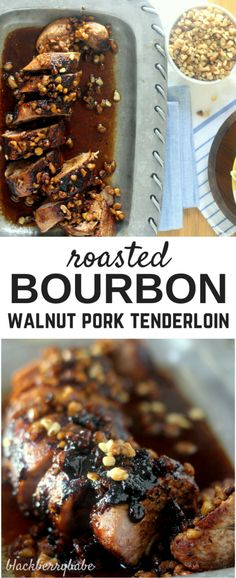 Roasted Walnut Bourbon Pork Tenderloin ready in about 30 minutes Perfect fall entree Roasted Walnut Bourbon Pork Tenderloin ready in about 30 minutes Perfect fall entree. Entree Recipes, Pork Recipes, Fall Recipes, Cooking Recipes, Pork Meals, Dinner Recipes, Weeknight Recipes, Sausage Recipes, Gastronomia