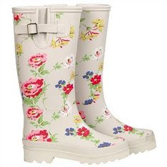 Cath Kidston Wellies. Might (hopefully) need for winter!                                                                                                                                                                                 More
