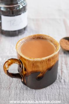 Chai Pumpkin Spice Tea Recipe - Make this with my homemade DIY pumpkin pie spice and learn which black tea to use! Warming hot spiced beverage, 5-minute beverage, cold season drink, breakfast beverage, tea time beverage, comfort drink, autumn beverage, fall beverage recipe, healthy drink, chai latte, www.MasalaHerb.com #pumpkinspice #chai #tea