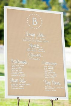 A Seattle summer wedding at the Olympic Sculpture Park centered around a picnic al fresco concept with wood over pizza. Photography by La Vie Photography. Wedding Signage, Wedding Seating, Wedding Ceremony, Ceremony Programs, Wedding Programs, Wedding Venues, Wedding Photo Gallery, Wedding Photos, Wedding Blog