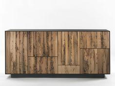 Briccola wood sideboard with drawers RIALTO MODULO 4 - Riva 1920