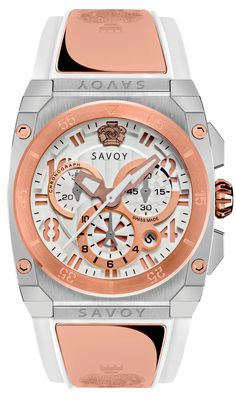 Icon Midway-Chrono Two-Tone Stainless Steel Modern Watches, Cool Watches, Rolex Watches, Swiss Made Watches, Stainless Steel Case, Chronograph, Jewelry Stores, Rose Gold, Accessories