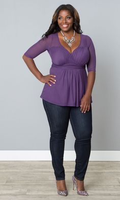 We've got plus size tops for all your dressy, casual or office wear needs. Shop www.kiyonna.com #kiyonna #plussize #tops