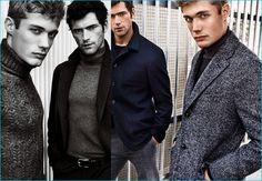 Sean O'Pry and Steven Chevrin don elegant outerwear for Massimo Dutti's fall-winter 2016 campaign.