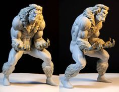 SabreTooth  Mark Newman clay sculpture