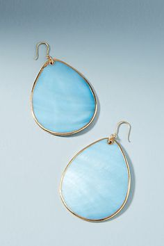 Turquoise blue sea glass blue gold drop earrings. (Sponsored affiliate link)