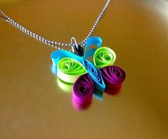 I'm A Butterfly  Paper Quilled Pendant by RaajMa on Etsy, $3.00