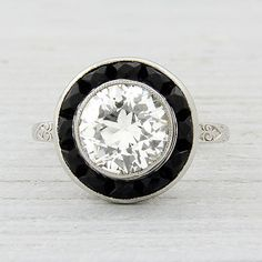 1.11 Carat Old European Cut Diamond Art Deco Engagement Ring   Vintage & Antique Engagement Rings   Erstwhile Jewelry Co NY