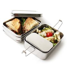 Our Three-in-One is a three-piece nesting bento lunch box set. This nifty bento container makes it easy to pack a variety of foods and keep them all Stainless Steel Lunch Containers, Stainless Steel Bento Box, Lunch Box Set, No Waste, Reduce Waste, Lunch To Go, Food Storage Containers, Plastic Containers, Picnic