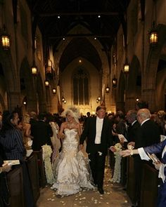 The wedding of Donald Trump Sr. and Melania Trump at The Episcopal Church of Bethesda-By-The-Sea on January 22, 2005 in Palm Beach, Florida.