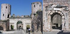 Extant Roman Gates (built in Spello, on land given by Augustus to be settled by retired legionnaires): Porta Venere (on the left; & named for its proximity to a former temple to venus) - Porta Urbica (on the right).